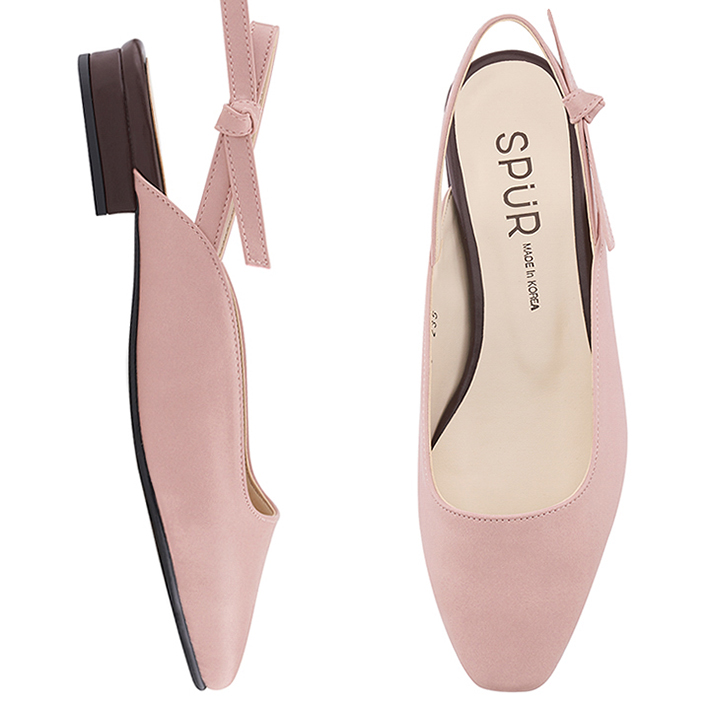 SPUR[스퍼]MS9050 Tie up slingback 핑크