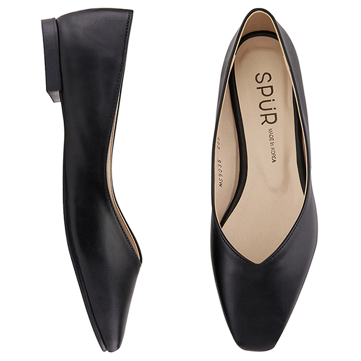 SPUR[스퍼]MS9038 Slim square flat 블랙