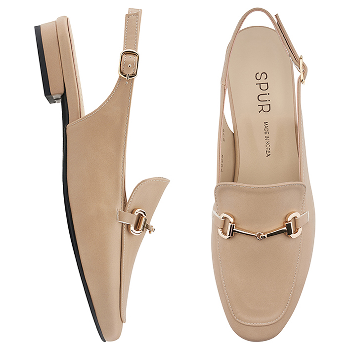 SPUR[스퍼]PS7005 Simple chain slingback 베이지