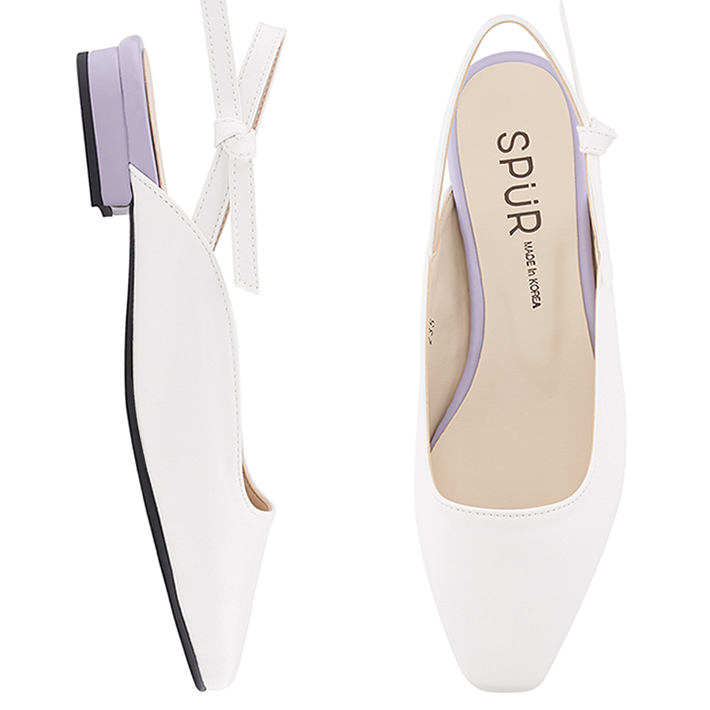 SPUR[스퍼]MS9050 Tie up slingback 화이트