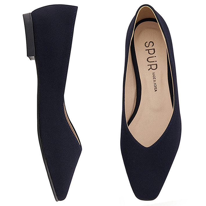 SPUR[스퍼]MS9038 Slim square flat 네이비
